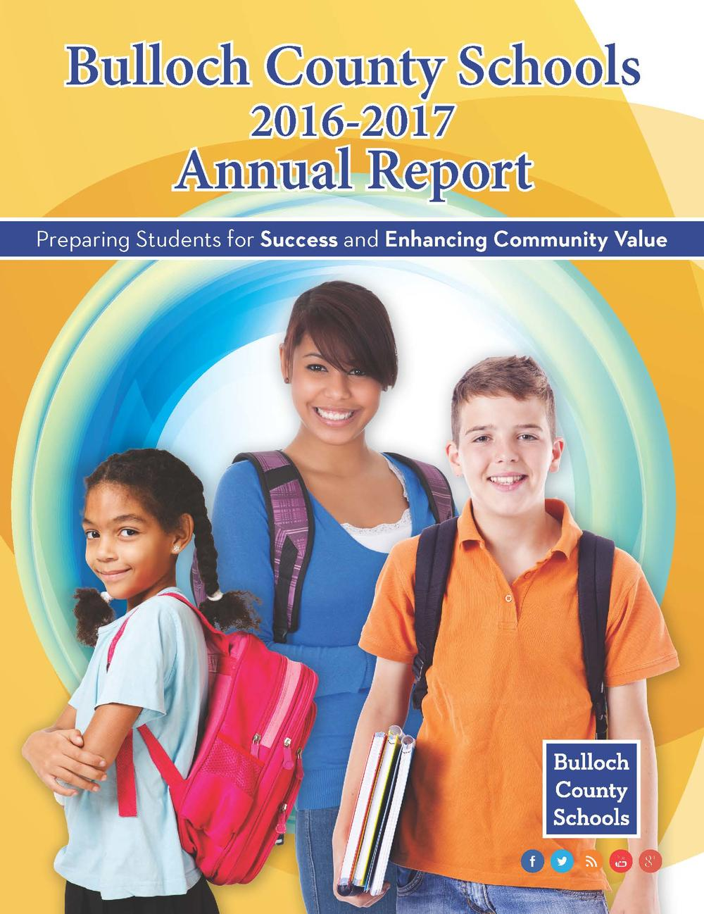 Bulloch County Schools Annual Report Front Cover