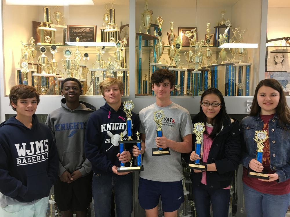 State Science   Engineering Fair Qualifiers from William James Middle School