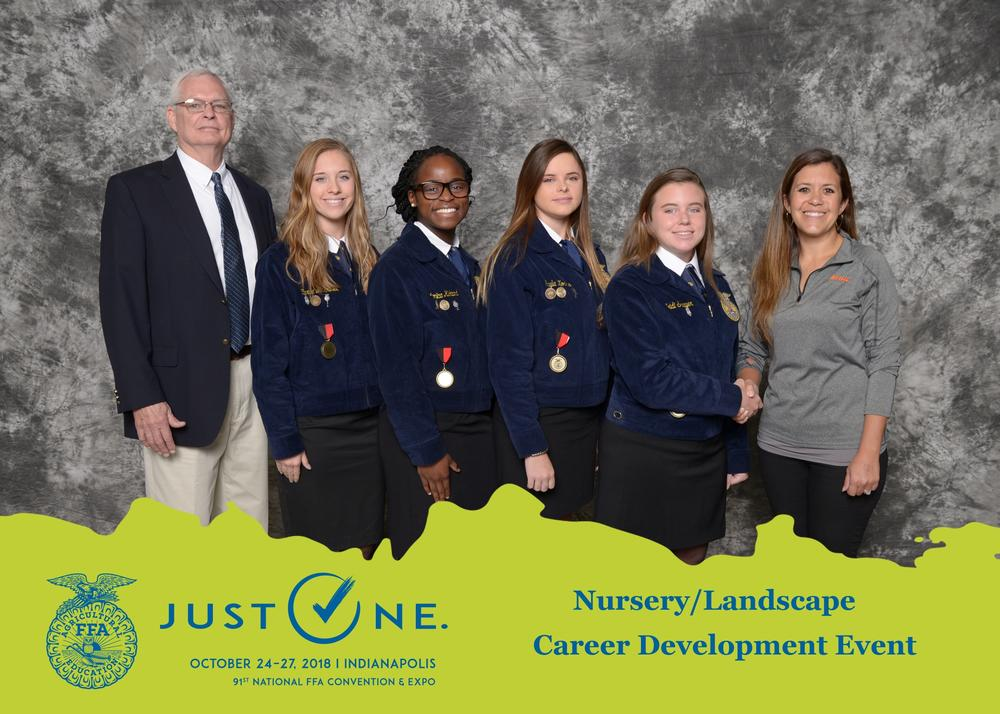 Portal FFA Nursery-Landscape Team at National Competition