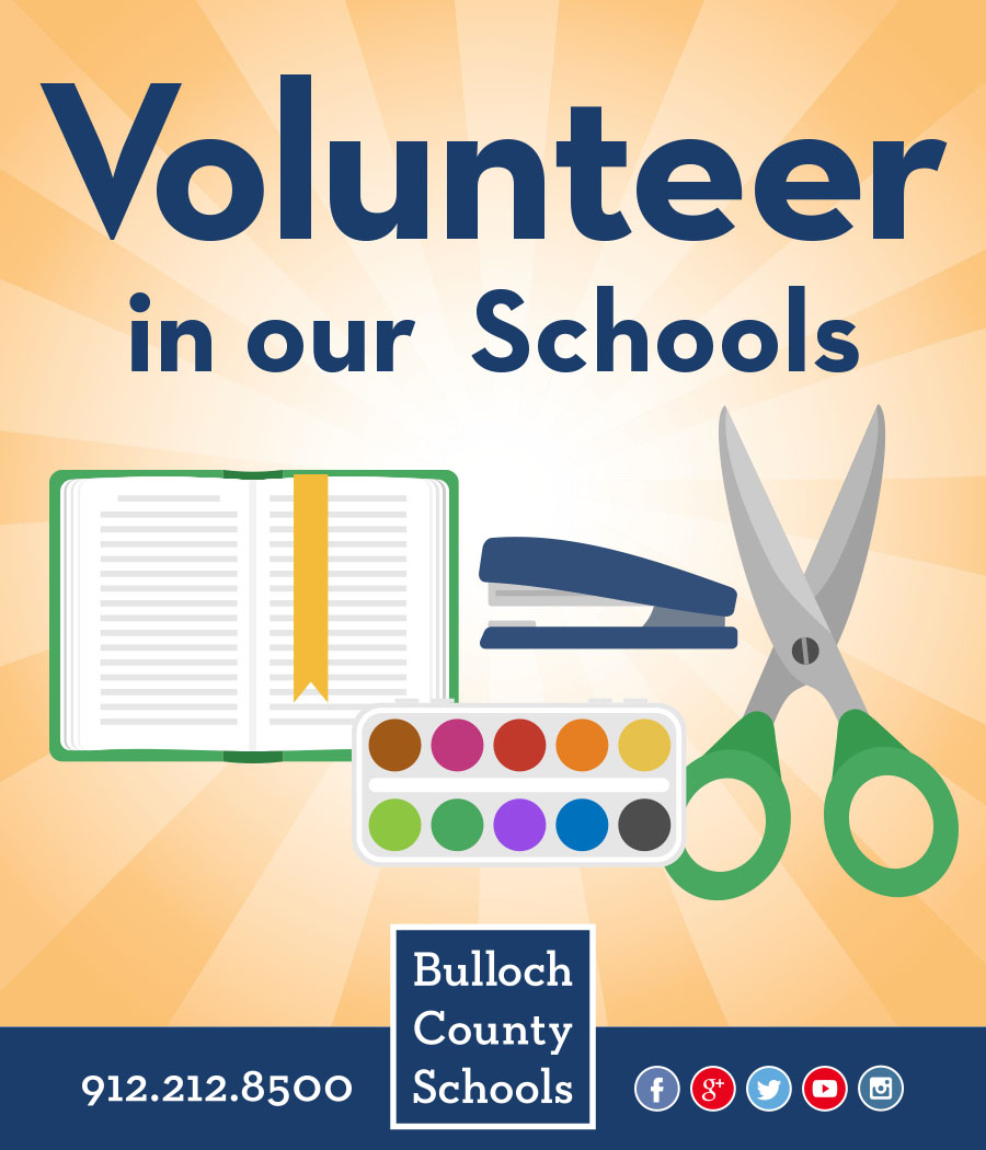 Volunteer in our schools advertisement