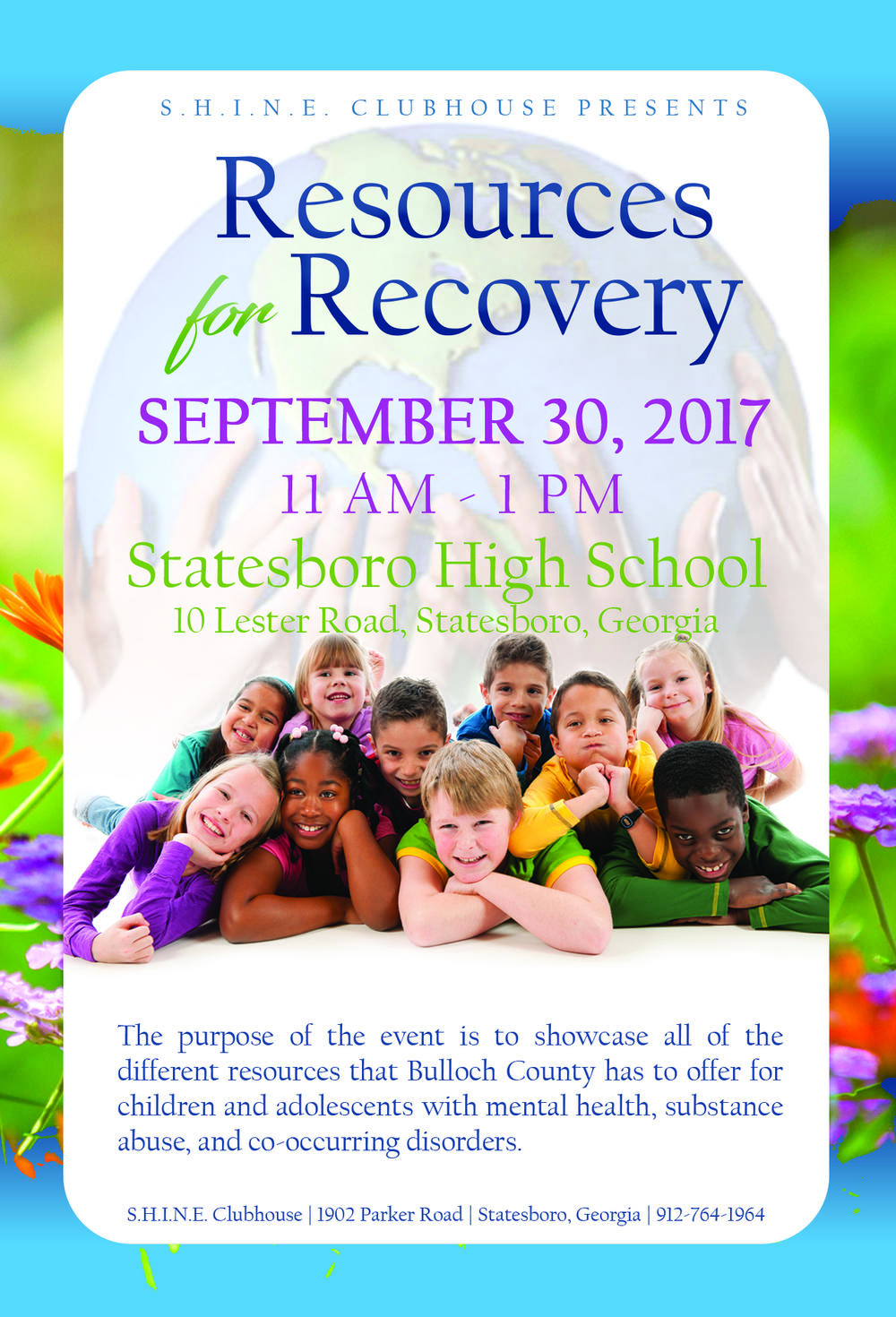 Resources for Recovery flyer