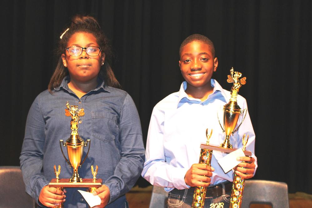 Bulloch County Spelling Bee Champion and Runner up