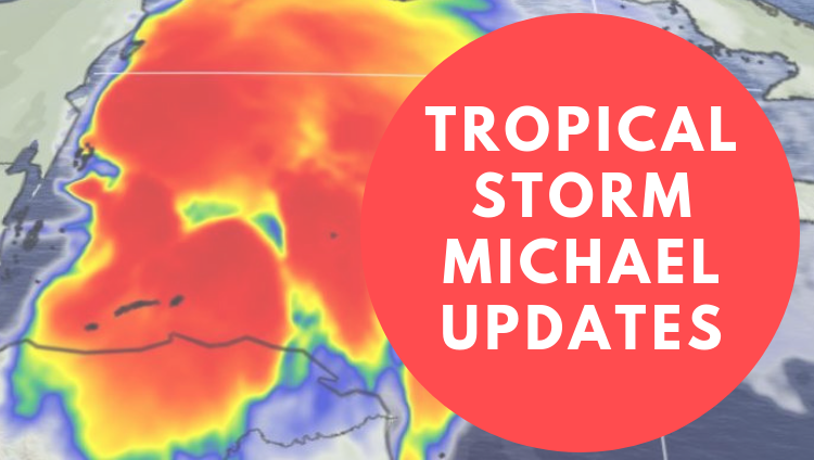 Hurricane Michael Update graphic