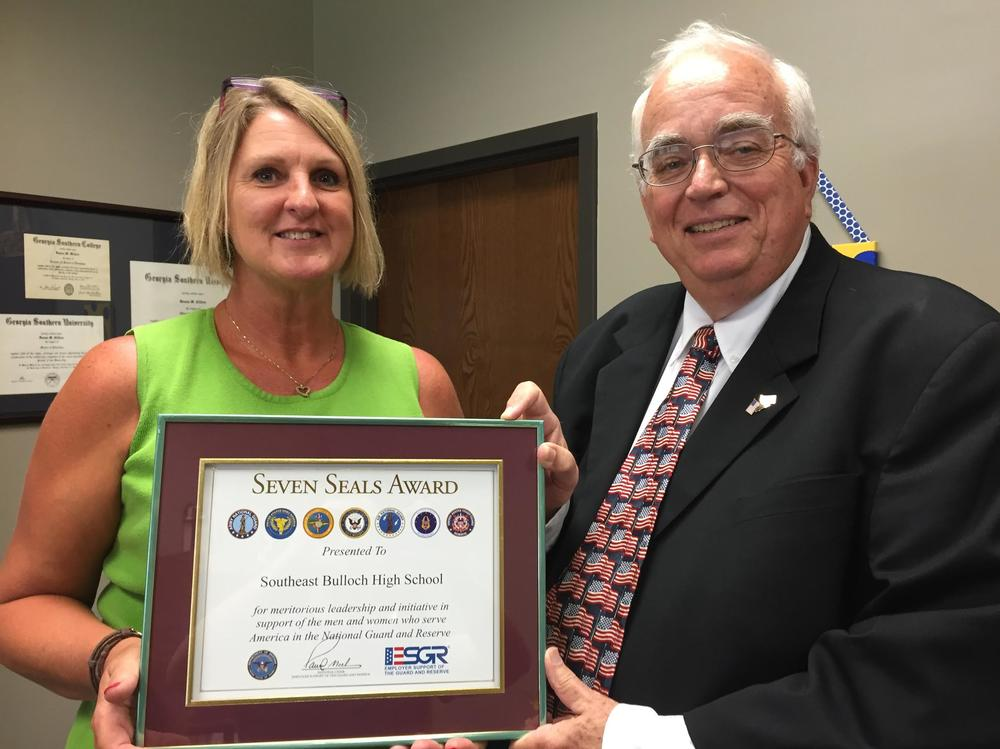 Donna Clifton Receives Seven Seals AWard