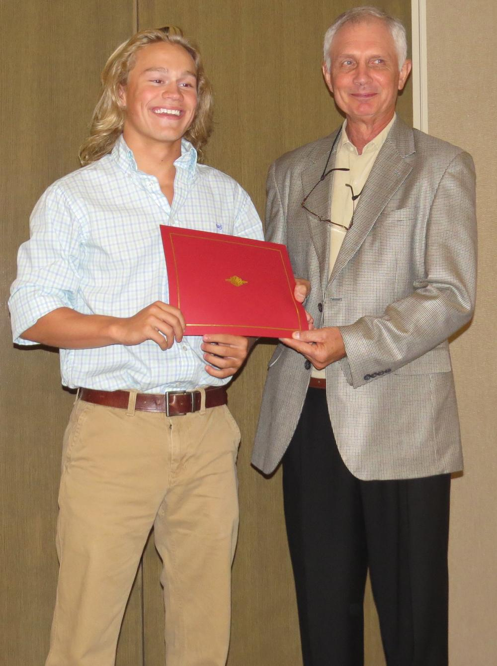 Wyatt Turner Receives State Trig Star Award from James Anderson.jpg