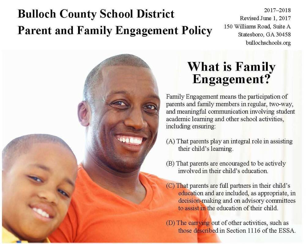 Parent and Family Engagement Policy Graphic