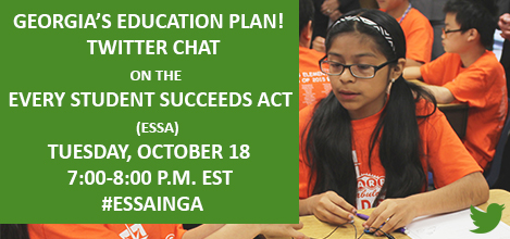 Twitter Chat ad for ESSA