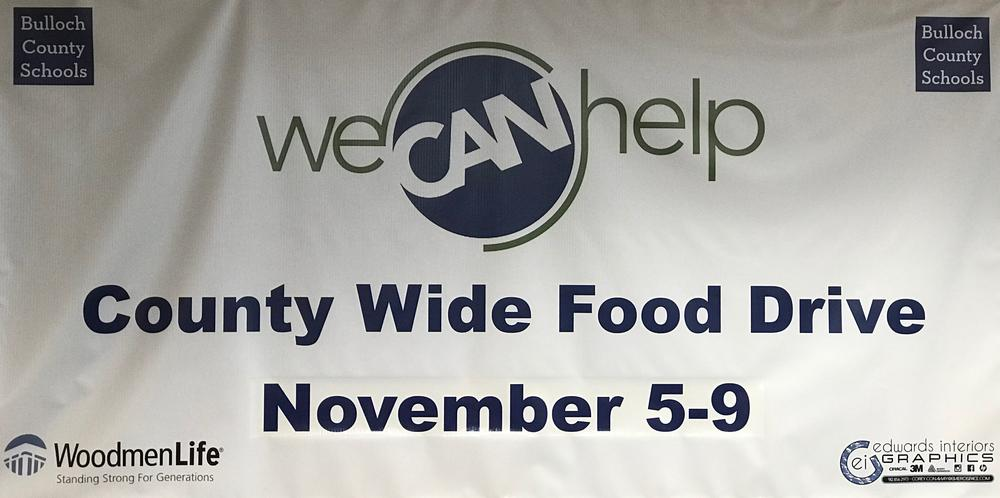 We CAN Help Food Drive Banner