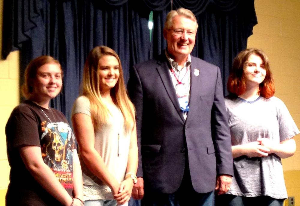 12th District Congressman Rick Allen with Statesboro High artists